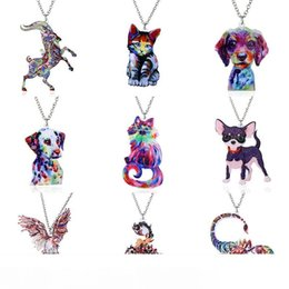 pendants grams Australia - Pendant Second Gram Force Heat Transfer Acrylic Necklace Fashion Animal Sweater Chain Necklace