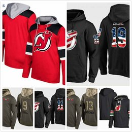 Cheap New Jersey Devils Hoodie Miles Wood 44 Travis Zajac 19 Brian Boyle 11  Nico Hischier 13 Taylor Hall 9 Stitched 2019 S-3XL 82d2edc98