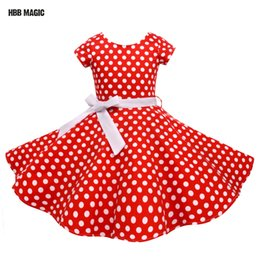 $enCountryForm.capitalKeyWord Australia - Summer Girls Dress Elegant Vintage Cotton Retro Princess Dress Party Costume Kids Clothes Red Dot Girl Dress Children ClothingMX190822
