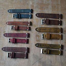 Discount stitch bracelet - Vintage Women Men Replacement Genuine Leather Watch Band Stitching Bracelet Hot New