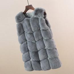 $enCountryForm.capitalKeyWord Australia - Slim Women Vest Casual Fur Button Patchwork Fox Coat Winter Covered Faux Cardigan O-Neck Sleeveless