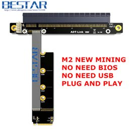 Riser Cable Australia - pcie PCIE 3.0 x16 To M2 NGFF NVMe SSD ,M.2 PCI-e 16x Riser mining graphics card extension cable 25cm -