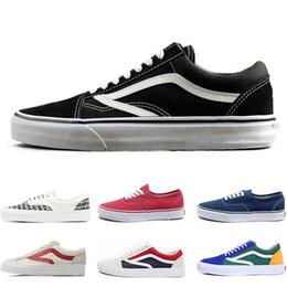 a7425cc4 Vans Casua viejo skool sk8 hola para hombre para mujer zapatillas de lona  negro blanco rojo YACHT CLUB MARSHMALLOW zapatos de skate tamaño 36-44  envío ...