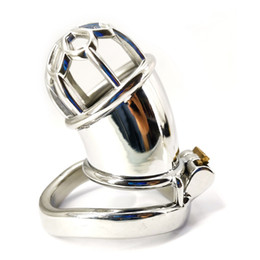 large chastity device cage NZ - Male Long Chastity Cage Men's Large Size Stainless Steel Locking Belt Device Hot Selling Sexy Toys DoctorMonalisa CC232-1