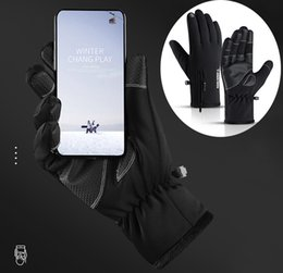 winter football gloves Canada - 2019 Touchscreen Running Gloves Winter Waterproof Windproof Thermal Gloves for Cycling Biking Riding Driving Outdoor Sport Warm Mitten M686F