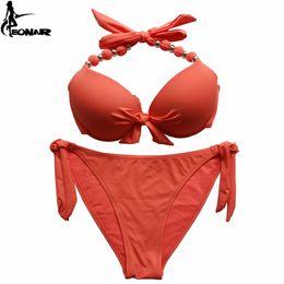 db1ca5f2b1b Eonar Bikini 2019 Offer Combined Size Swimsuit Push Up Brazilian Bikini Set Bathing  Suits Plus Size Swimwear Female Xxl Y19051801
