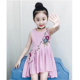 1feb5357cbb0 Party Dress Girls Summer Dress Children Sleeveless Kids Dresses Flower  Children's Costume Teen Costume For Girls 6 8 12 14 Years