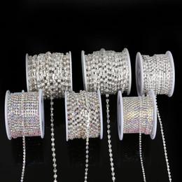 $enCountryForm.capitalKeyWord Australia - Sew on Rhinestone Chain SS6-SS18 Silver Metal Trim Bridal Appliques Strass DIY Apparel Accessories 10yard roll