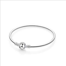 $enCountryForm.capitalKeyWord Australia - Silver Ball Clasp Bracelets With Logo Charms Bangle Chain Bracelet Fit Pandora Bracelets Wholesale Fit For European Beads Charms Dangles