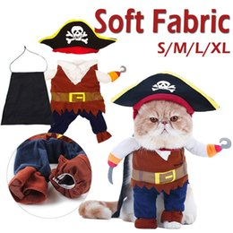$enCountryForm.capitalKeyWord Australia - Funny Cat Costume Play Pet Clothes Puppy Role Play Cute Small Dog Pirates Clothing Kitten Hat Dog Apparel Cat Toy Suit
