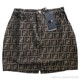 Skirt pluS SizeS online shopping - New design women s F letter jacquard high waist a line short skirt runway fashion skirt plus size S M L XL