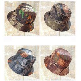 $enCountryForm.capitalKeyWord Australia - Fisherman hat unisex flower cloth basin cap casual flat top wide hat outdoor sunscreen camouflage visor LJJZ362