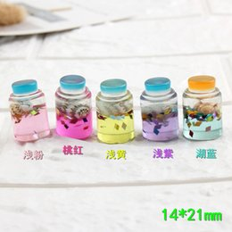 Bottle Charms Wholesale Australia - Mix 100pcs 14*21mm Perfume Drift bottles resin charms parts keychain hangings DIY mobile phone jewelry material crystal mud filler