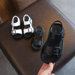 Sandals For Infant Boys NZ - Kids Sandals Designer Shoes For Baby Girls And Boys Black White Beach Toddler Shoes Infant Chaussures Pour Enfants