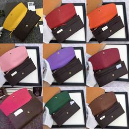 Wholesale 2019 red bottoms lady long wallet multicolor designer coin purse Card holder original box women classic zipper pocke