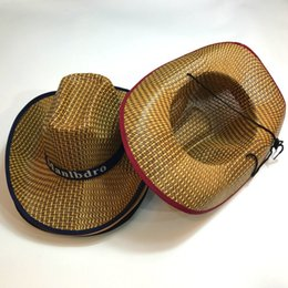 Women Cowboy Straw Sun Hat Men Summer Sun Hat Woven Straw Cowboy Hats  Travel Camping Beach Outdoor Cap Wide Brim Hats RRA409 45ae796448d1