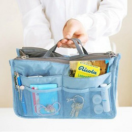 Wholesale Fashion Cosmetic Bags Insert Handbag Organizer Portable Large liner Tidy Organizer Bag Women Travel Make Up Bags Tools RRA977