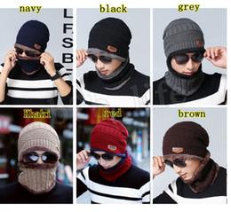 Wholesale unisex kids adult Warm Cap Thick Winter Skullies Beanies Hat Cap Beanie Knitted Caps Neck Warmer Hat LJJM2369-1