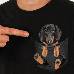 Cotton Suppliers NZ - Dachshund Inside Pocket T Shirt Black Cotton Men S-6XL US Supplier new 2018 Summer Fashion Shirt Men's Short Sleeve cotton