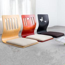 Cushioned Chairs Australia - (4pcs lot)Floor Seating Zaisu Chair Asian Design Living Room Furniture Japanese Style Tatami Legless Meditation Chair Cushion