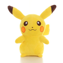 $enCountryForm.capitalKeyWord Australia - Hot sale Pikachu Toy 3D Cartoon Figure Flash Doll 20cm Small Size Crystel Velvet Material PP Cotton Filling Safe Soft Room Office Decor