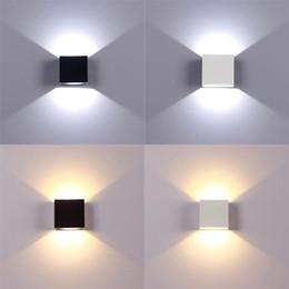Luci Decorazione per interni in alluminio 6W della lampada della casa della parete del LED Illuminazione dell'interno dimmerabile su giù per scale Corridoio Camera luce di notte in Offerta