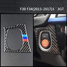 Carbon Engine Australia - Fashion Design For BMW F30 F34 interior Carbon Fiber Car Start Stop Engine Button Cover Sticker M Strips Trim Car Styling 3 Series Accessori