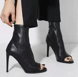 $enCountryForm.capitalKeyWord Canada - New women shoes high heels ankle boots pu leather stiletto black pumps sexy peep toe sandals ladies big size zapatos mujer
