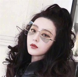 $enCountryForm.capitalKeyWord Australia - Fashionable Butterfly Framed Sunglasses In Two Colors Creative Style Accessories Metal Frame Colorfully Sunglasses Women Lovely Sunglass