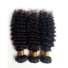 african american hair weaves Australia - Brazilian virgin human hair weft kinky curly Unprocessed Malaysian Indian remy hair 3 4 5pcs lot cheap price African American hair weaves