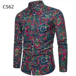 $enCountryForm.capitalKeyWord NZ - Spring Long Sleeve Shirt Retro Flowers Printed Men Blouse 5XL Slim Tops Korean Style Male Party Elegant Casual Hawaiian Clothes