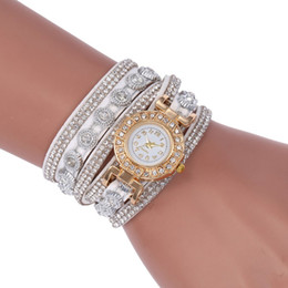 korean watch style 2019 - SC101 Korean Velvet Bracelet watch Luxury Full Diamond Watch Retro Style Ladies Round Long Quartz discount korean watch