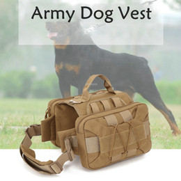harness clothes Australia - Army Dog Vest Molle Tactical Dog Training Vest Outdor Service Harness Clothing