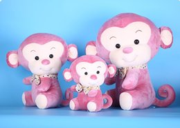 Stuffed Animal Monkey Toy Australia - Free shipping 25CM Monkey Plush Toys Pillow Soft For Sleeping Stuffed Animals PP cotton Baby 's Playmate Gifts for Children Kids 3 COLOURS