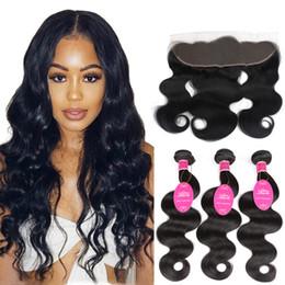 $enCountryForm.capitalKeyWord Australia - Brazilian Human Virgin Hair Products Extensions Body Wave hair 3 Bundles With 13*4 Frontal Ear to Ear Cheap Closure Wet Wavy longjiahair ga