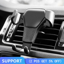 Wholesale mobile phone car holder gps resale online - Gravity Reaction Car Mobile Phone Holder Clip Type Air Vent Monut Gps Car Phone Holder For Iphone s Plus Samsung S7 S8 S9