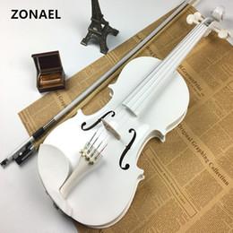 Vente en gros Débutant Violon Antique violon 4/4 - Étui pour instrument de musique fait main, archet tilleul v001