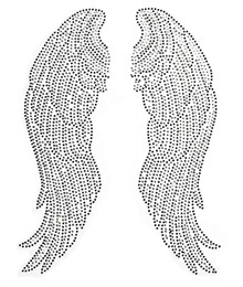 diamonds for clothes UK - Large Angel Wings Pairs Iron on Hot Fix Rhinestone Transfer Bling Motif Diamond Applique for Crafts Clothes Bags Decoeated 1pair