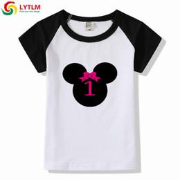 1bbb1d96c0c LYTLM Birthday Girl 1st Outfit Minne Shirt Girl Bobo Choses 2019 Summer Kids  Clothes Girls Korean Raglan Toddler Shirts Top