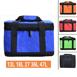 picnic ice packs Australia - 13L-47L big capacity cooler bag thermal lunch picnic box ice pack drinks wine fresh can carrier vehicle insulation cool bag