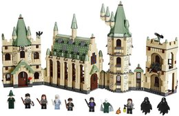 Discount plastic toy castle building blocks - 1340pcs set Harri Potter Series Magic School Hogwarts Castle Model Building Blocks toys Compatible With Legoed Movie bab