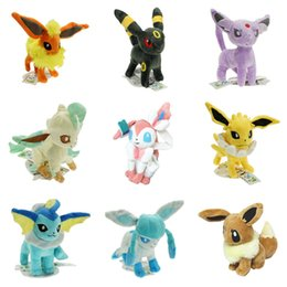 EEvEE figurE online shopping - 22cm Pikachu Plush Toys Pikachu Umbreon Eevee Espeon Jolteon Vaporeon Flareon Glaceon Leafeon Soft Stuffed Dolls Figures Toys