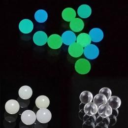 Großhandel 6mm 8mm Luminous glühendes Quarz Terp Dab Perlen Kugeln Insert Blau Grün freie Quarz-Perle für Quartz Banger Nägel, Glas, Wasser Bongs Dab Rig