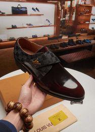 4016254f Top lujoso estilo italiano de cuero genuino de los hombres de la boda  Wingtip Brogue zapatos con cordones zapatos de vestir formales fiesta  oficina Brown ...
