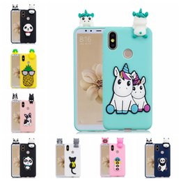 $enCountryForm.capitalKeyWord Australia - Universal Back Case Cover For Xiaomi 6X A2 Pasted 3D Funny Panda Dog Cat Pineapple Sticking a Little Silicon Doll 61 Models Option