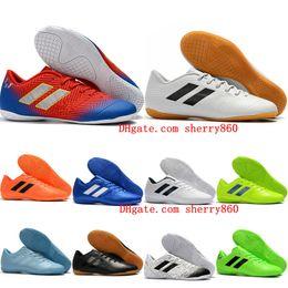 Cheap messi boots online shopping - 2019 mens soccer shoes Nemeziz Messi Tango IC soccer cleats cheap indoor football boots botas de futbol top quality