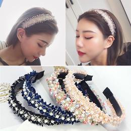 Tassel headband hair online shopping - Hairband For Women Hair Hoop Headband Pearls Hair Accessories Turban Wide Lace Colors Female Girls Handmade Tassel PC
