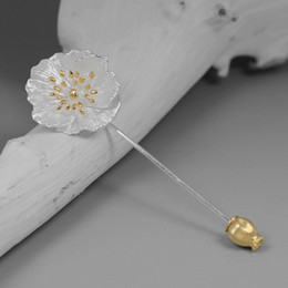 $enCountryForm.capitalKeyWord Australia - Inature 925 Sterling Silver Vintage Poppy Flower Brooch Pin For Women Jewelry Gift SH190721