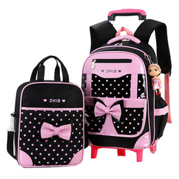 $enCountryForm.capitalKeyWord Australia - Fashion 2pcs set school backpacks 6 wheels children school bags for girls handbag waterproof cute kids travel trolley bookbag
