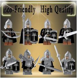$enCountryForm.capitalKeyWord NZ - Single Sale Lord of the Rings action Figures technic Knight Soldier of Gondor Spear Sword Building Blocks Bricks Toys